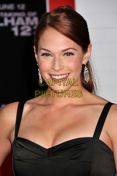 "AMANDA RIGHETTI.""The Taking of Pelham 123"" Los Angeles Premiere held at Mann's Village Theatre, Westwood, CA, USA..June 4th, 2009.headshot portrait silver earrings dangling cleavage black .CAP/ADM/BP.©Byron Purvis/AdMedia/Capital Pictures."
