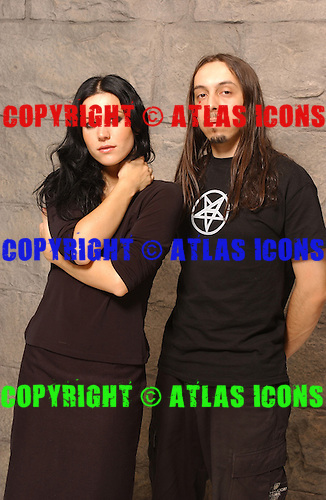 Lacuna Coil; Andrea Ferro; Cristina Scabbia; Studio Portrait Session, <br />