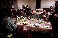 Roma. Caserma dei Vigili del Fuoco Tuscolano II  .La Mensa.Rome. Barracks Fire Tuscolano II.refectory