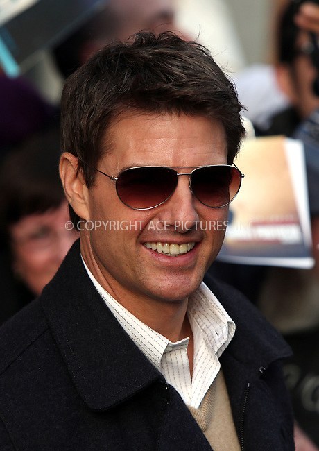 WWW.ACEPIXS.COM....April 16 2013, New York City....Actor Tom Cruise made an appearance at the Daily Show with Jon Stewart on April 16 2013 in New York City......By Line: Philip Vaughan/ACE Pictures......ACE Pictures, Inc...tel: 646 769 0430..Email: info@acepixs.com..www.acepixs.com