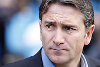 02.05.2012 SPAIN -  La Liga matchday 20th  match played between Atletico de Madrid vs Real Sociedadl (1-1) at Vicente Calderon stadium. The picture show Philippe Montanier coach of Real Sociedad