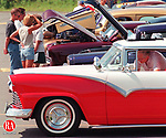 CHESHIRE, CT.--0809MA2.TIF--Folks check out some oldie but goddie car classics during a car and motorcycle show held Sunday at the Pratt and Whitney parking lot on Knotter Drive inb Chesire, ct. MICHAEL ASARO staff phoot for standalone