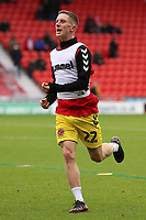 Fleetwood Town's Lewis Coyle during the pre-match warm-up <br /> <br /> Photographer David Shipman/CameraSport<br /> <br /> The EFL Sky Bet League One - Doncaster Rovers v Fleetwood Town - Saturday 6th October 2018 - Keepmoat Stadium - Doncaster<br /> <br /> World Copyright © 2018 CameraSport. All rights reserved. 43 Linden Ave. Countesthorpe. Leicester. England. LE8 5PG - Tel: +44 (0) 116 277 4147 - admin@camerasport.com - www.camerasport.com