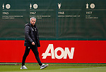 Manchester United manager Jose Mourinho walks out to training during the Manchester United training session at the Carrington Training Centre, Manchester. Picture date: May 19th 2017. <br /> Pic credit should read: Matt McNulty/Sportimage