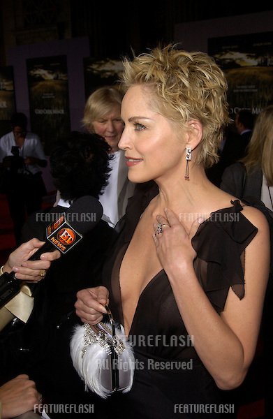 Actress SHARON STONE at the world premiere, in Hollywood, of her new movie Cold Creek Manor..Sept 17, 2003