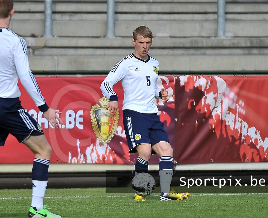 Scotland U19 - Belgium U19 : Stephen Kingsley.foto DAVID CATRY / Nikonpro.be