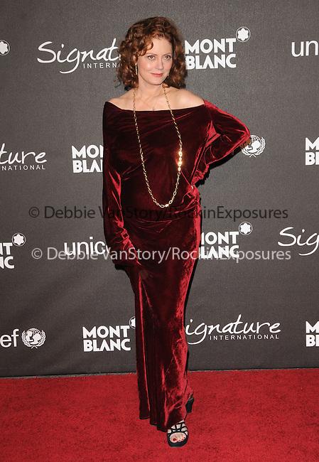 February 20,2009: Susan Sarandon at The Montblanc Signature for Good Charity Gala held at Paramount Studios in Hollywood, California. Credit: RockinExposures