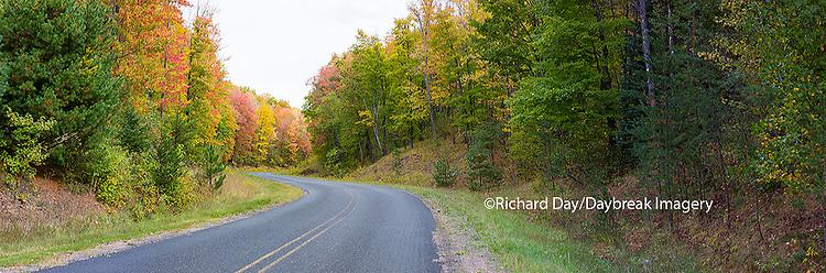 64795-01519 Road in fall, Alger County, Upper Peninsula, MI