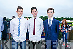 Enjoying the Friends of University Hospital Kerry 'Night at the Dog' in the Kingdom Greyhound Stadium on Friday were Alex Marow  Aidan Shannahan, Ben Duggan