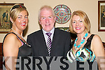 VICTORY DANCE: Enjoying Jimmy Deenihans victory social in the Listowel Arms Hotel on Friday.night were Kayrena Dowling (Tralee), Jimmy Deenihan and his wife, Mary Deenihan.