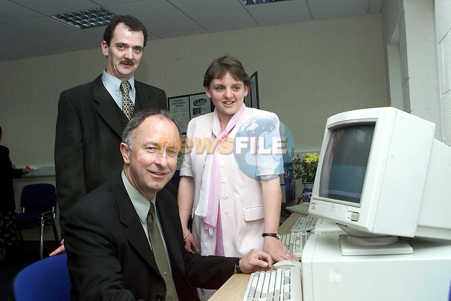 Minister Dermot Ahern with Chris McDonagh and Martina Meegan of the CMD Training Institute at the official opening of Ardee Business Park..Picture Paul Mohan Newsfile