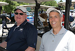 University of Nevada Dean of Sciences Jeff Thompson and Vince Catalano during the Scramble for Science golf tournament at Lakeridge Golf Course on Friday, June 23, 2017.