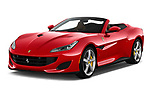 2018 Ferrari Portofino base 2 Door Convertible angular front stock photos of front three quarter view