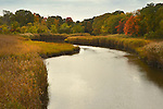 Indian River outlet, Clinton, CT. in autumn.