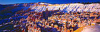 Silent City Winter Panoramic View, Bryce Amphitheater, Bryce Canyon National Park, Utah