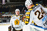 Stockholm 2013-12-07 Ishockey Elitserien AIK - Skellefte&aring; AIK :  <br /> Skellefte&aring;s Jimmie Ericsson jublar med Skellefte&aring;s Jonas Fr&ouml;gren efter sitt 2-0 m&aring;l<br /> (Foto: Kenta J&ouml;nsson) Nyckelord:  AIK Skellefte&aring; SAIK jubel gl&auml;dje lycka glad happy