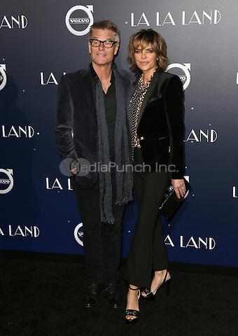 "Westwood, CA - DECEMBER 06:  Harry Hamlin, Lisa Rinna, At Premiere Of Lionsgate's ""La La Land"" At Mann Village Theatre, California on December 06, 2016. Credit: Faye Sadou/MediaPunch"