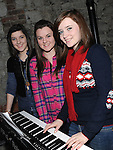 Edel McEnteggart, Sarah Doyle and Claire O'Connor from Our Lady's College Greenhills pictured at the launch of their CD album on i Tunes in Scotch Hall. Photo: Colin Bell/pressphotos.ie Photo: Colin Bell/pressphotos.ie
