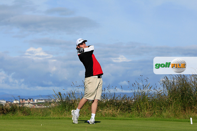 Owen Crooks (Bushfoot) on the 4th tee during Round 3 of Matchplay in the North of Ireland Amateur Open Championship at Portrush Golf Club, Portrush on Thursday 14th July 2016.<br /> Picture:  Thos Caffrey / www.golffile.ie