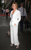 NEW YORK, NY - JUNE 28:   Legendary former gold medal-winning Olympic gymnast Nadia Comaneci spotted leaving NBC Studios following an appearance on 'New York Live' where she and Olympic gymnast Dominique Dawes talked about the 2016 Rio Summer Olympics in New York, New York on June 28, 2016.  Photo Credit: Rainmaker Photo/MediaPunch