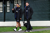 Anthony Perenise and Freddie Burns of Bath Rugby. Heineken Champions Cup match, between Bath Rugby and Wasps on January 12, 2019 at the Recreation Ground in Bath, England. Photo by: Patrick Khachfe / Onside Images
