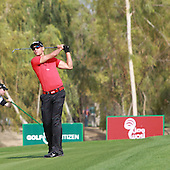Rafa Cabrera-Bello (ESP) during the second round of the 2013 Omega Dubai Desert Classic being played over the Majlis Golf Course, Emirates Golf Course from 31st January to 3rd February 2013: Picture Stuart Adams www.golftourimages.com/www.golffile.ie:  1st February 2013
