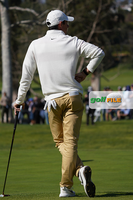 Rory McIlroy (NIR) In action during the 1st round of The Genesis Invitational, Riviera Country Club, Pacific Palisades, Los Angeles, USA. 12/02/2020<br /> Picture: Golffile | Phil Inglis<br /> <br /> <br /> All photo usage must carry mandatory copyright credit (© Golffile | Phil Inglis)