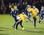 "The University of Michigan men's soccer team beat Michigan State, 1-0, on Senior Night to reclaim the ""Big Bear"" trophy at the UM Soccer Stadium in Ann Arbor, Mich., on November 3, 2012."