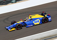 May 26, 2017; Indianapolis, IN, USA; IndyCar Series driver Alexander Rossi during Carb Day for the 101st Running of the Indianapolis 500 at Indianapolis Motor Speedway. Mandatory Credit: Mark J. Rebilas-USA TODAY Sports