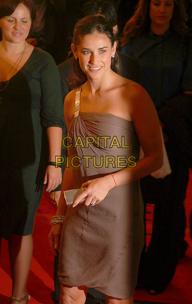 "DEMI MOORE.""Bobby"" Premiere during the 2006 Toronto International Film Festival held at Sutton Place Hotel, Toronto, Ontario, Canada, 14 September 2006..half length grey brown dress one shoulder black strap .Ref: ADM/BP.www.capitalpictures.com.sales@capitalpictures.com.©Brent Perniac/AdMedia/Capital Pictures."