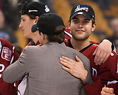 Seb Lloyd (Harvard - 15), Clay Anderson (Harvard - 5) - The Harvard University Crimson defeated the Boston University Terriers 6-3 (EN) to win the 2017 Beanpot on Monday, February 13, 2017, at TD Garden in Boston, Massachusetts.