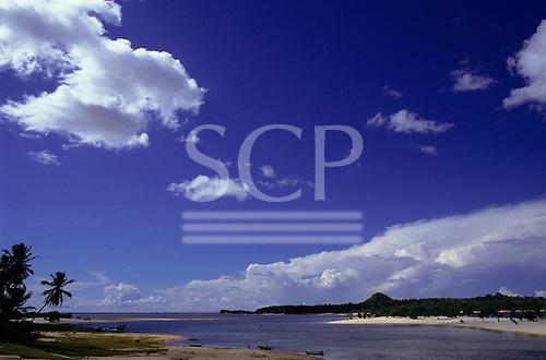 Santarem, Amazon, Brazil. River beach resort of Alter do Chao, near the town.