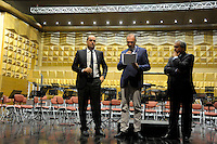 Nicola Zingaretti,Presidente della provincia Francesco Florenzano, presidente Upter.Inaugurazione XXIV anno accademico dell'università popolare di Roma...