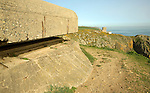 German gun emplacements on the coast at Torteval, Guernsey, Channel Islands, UK