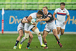 Hong Kong plays South Korea during the17th Asian Games 2014 Rugby Mens Sevens tournament on October 02, 2014 at the Namdong Asiad Rugby Field in Incheon, South Korea. Photo by Alan Siu / Power Sport Images
