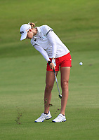 Nelly Korda (USA) in action on the 2nd during Round 3 of the HSBC Womens Champions 2018 at Sentosa Golf Club on the Saturday 3rd March 2018.<br /> Picture:  Thos Caffrey / www.golffile.ie<br /> <br /> All photo usage must carry mandatory copyright credit (&copy; Golffile   Thos Caffrey)