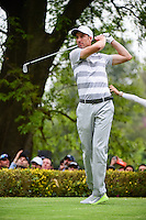 Ross Fisher (ENG) watches his tee shot on 18 during round 3 of the World Golf Championships, Mexico, Club De Golf Chapultepec, Mexico City, Mexico. 3/4/2017.<br /> Picture: Golffile | Ken Murray<br /> <br /> <br /> All photo usage must carry mandatory copyright credit (&copy; Golffile | Ken Murray)