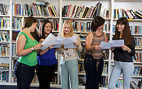 Pictured L-R: Students Holly Dickens, Kia Warlow,  Celia Crees, Katie Watkins and Freya Koutsoubelis.<br />