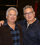 """Harvey Fierstein and Moises Kaufman attends the Broadway cast photo call for """"Torch Song"""" at the Hayes Theatre on September 20, 2018 in New York City."""