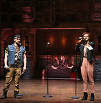 """Roddy Kennedy and Syndee Winters performing before The Rockefeller Foundation and The Gilder Lehrman Institute of American History sponsored High School student #EduHam matinee performance of """"Hamilton"""" at the Richard Rodgers Theatre on 3/15/2017 in New York City."""