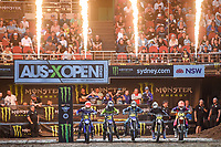 JR Lites starting action<br /> 2018 SX Open - Sydney <br /> Australian Supercross Championships<br /> Qudos Bank Area / Sydney Aus<br /> Saturday Nov 10th 2018<br /> © Sport the library/ Jeff Crow / AME