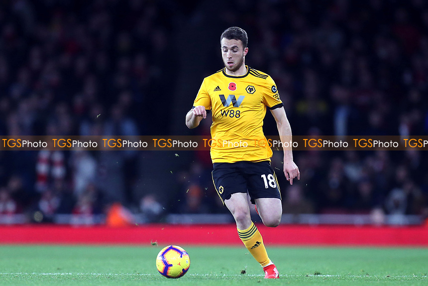 Diogo Jota of Wolves during Arsenal vs Wolverhampton Wanderers, Premier League Football at the Emirates Stadium on 11th November 2018