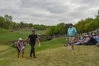 Henrik Stenson (SWE) waves to the gallery as he heads to the tee on 4 during day 4 of the WGC Dell Match Play, at the Austin Country Club, Austin, Texas, USA. 3/30/2019.<br /> Picture: Golffile | Ken Murray<br /> <br /> <br /> All photo usage must carry mandatory copyright credit (© Golffile | Ken Murray)