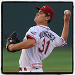 #OTD On This Day, May 7, 2012, starting pitcher Madison Younginer of the Greenville Drive pitched five innings to pick up his first Class A win at Fluor Field at the West End in Greenville, South Carolina. Younginer, from Mauldin High, pitched eight games with Atlanta, played briefly in Australia, then retired in 2018. He works for CarolinaPower in Greer. (Tom Priddy/Four Seam Images) #MiLB #OnThisDay #MissingBaseball #nobaseball #stayathome #minorleagues #minorleaguebaseball #Baseball #SallyLeague #AloneTogether