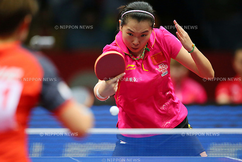 Li Xiaoxia (CHN), MAY 4, 2014<br />  - Table Tennis :<br /> 2014 World Team Table Tennis Championships <br /> Women's semi final match between Singapore 0-3 China <br /> at 1st Yoyogi Gymnasium, Tokyo, Japan.  <br /> (Photo by Yusuke Nakanishi/AFLO SPORT)