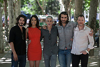 (L-R) Yon Gonzalez, Esther Mendez, Antonio Hernandez, Aitor Luna and Ben Temple pose during `Matar el Tiempo´ film premiere in Madrid, Spain. May 27, 2015. (ALTERPHOTOS/Victor Blanco)