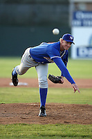 June 18th 2008:  Starting pitcher Josh Wells of the Auburn Doubledays, Class-A affiliate of the Toronto Blue Jays, during a game at Dwyer Stadium in Batavia, NY.  Photo by:  Mike Janes/Four Seam Images