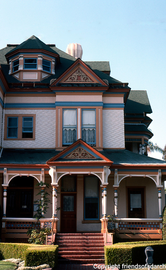 San Diego: Britt House, 4th and Maple. Queen Anne Victorian,  1889.  Photo '85.