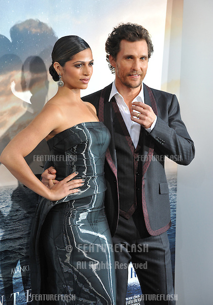 Matthew McConaughey &amp; wife Camila Alves McConaughey at the Los Angeles premiere of his movie Interstellar at the TCL Chinese Theatre, Hollywood.<br /> October 26, 2014  Los Angeles, CA<br /> Picture: Paul Smith / Featureflash