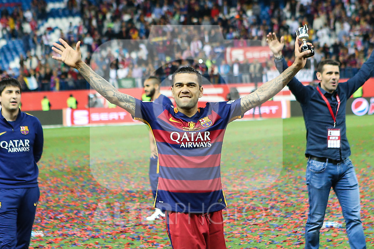 FC Barcelona's Daniel Alves  during Spanish Kings Cup Final match. May 22,2016. (ALTERPHOTOS/Rodrigo Jimenez)